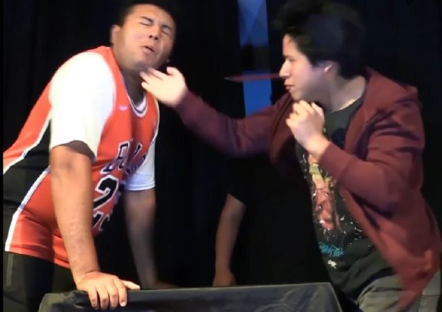 Campeonato de cachetadas en Perú