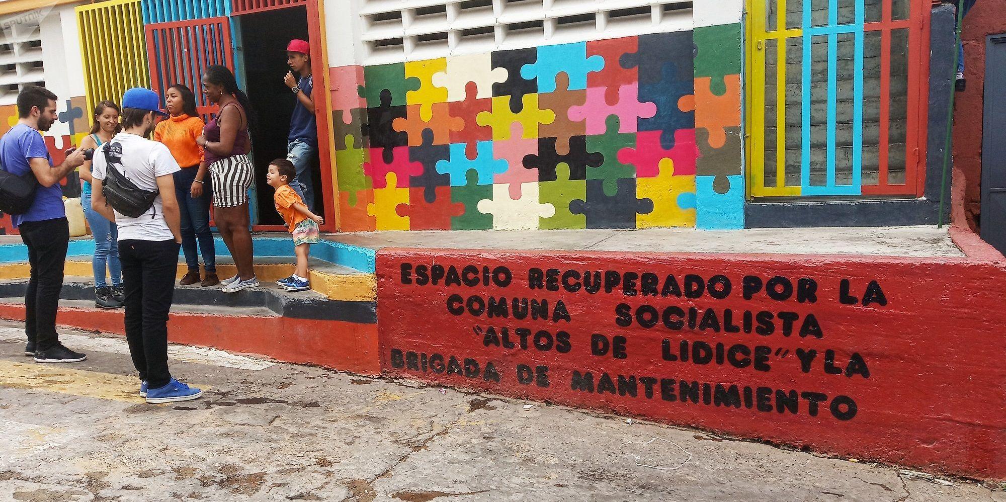 Espacio recuperado por la Comuna Socialista Altos de Lídice, Caracas, Venezuela