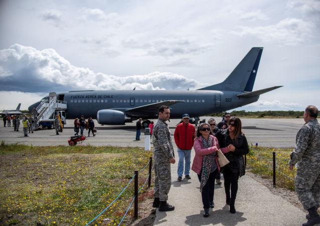 El avión Hércules C-130 de la Fuerza Aérea de Chile (FACH)