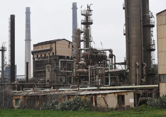 Una fábrica de fertilizantes químicos en Siria (archivo)
