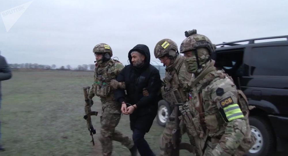 Los agentes del Servicio Federal de Seguridad ruso durante una operación (archivo)