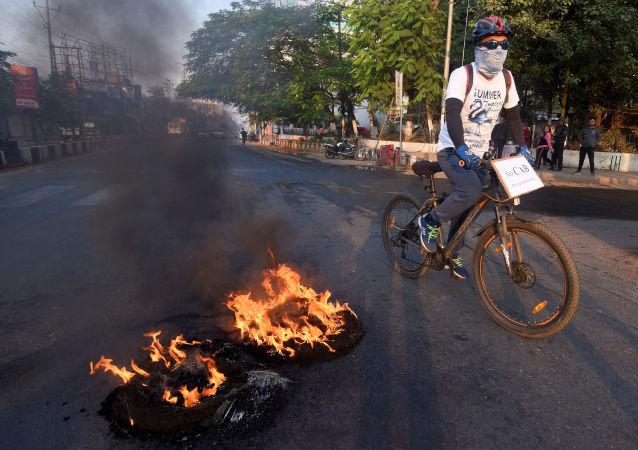 Protestas en Assam, la India