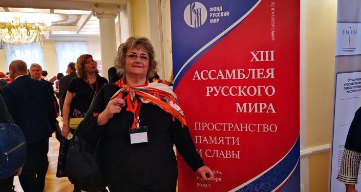 Silvana Jarmoluk Stroganova en la XIII Asamblea del Mundo Ruso en la ciudad de Yaroslavl