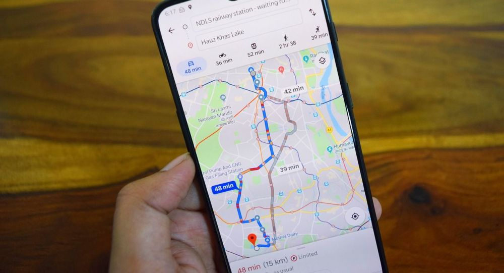 Un mapa de Google, referencial