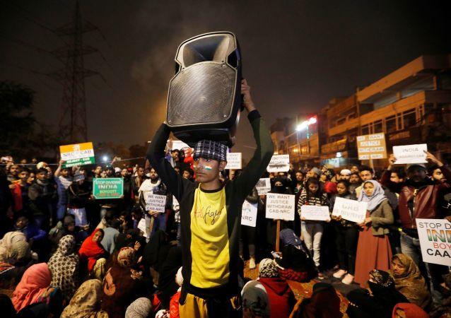 Protestas de los estudiantes en la India contra la ley de ciudadanía