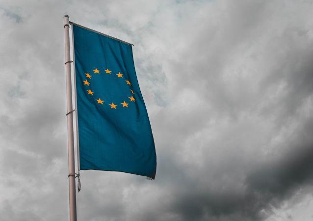 La bandera de la Unión Europea