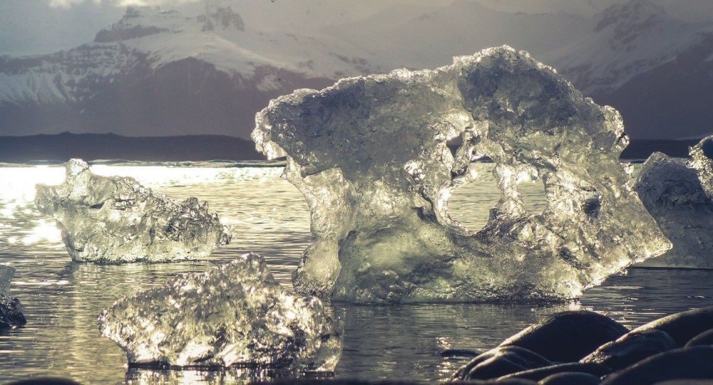Glaciares del Ártico, foto de archivo
