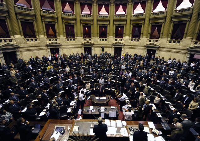 La vista general de la Cámara de Diputados de Argentina