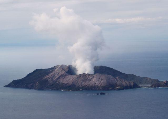 La erupción del volcán Whakaari en Nueva Zelanda