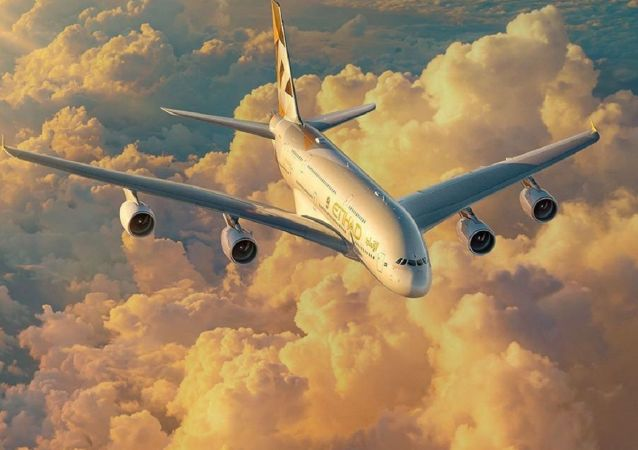 Un A380 de Etihad Airways