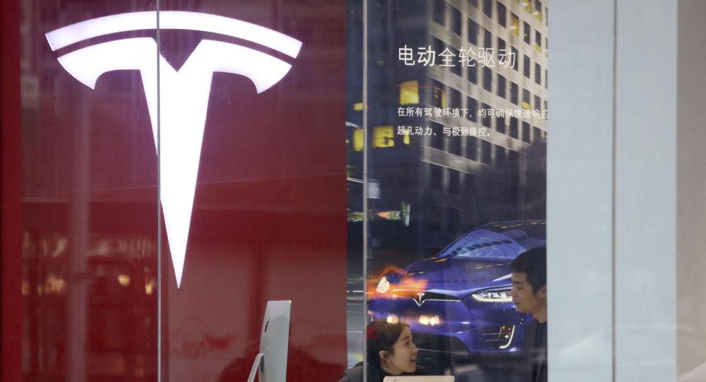 Una tienda de Tesla en China