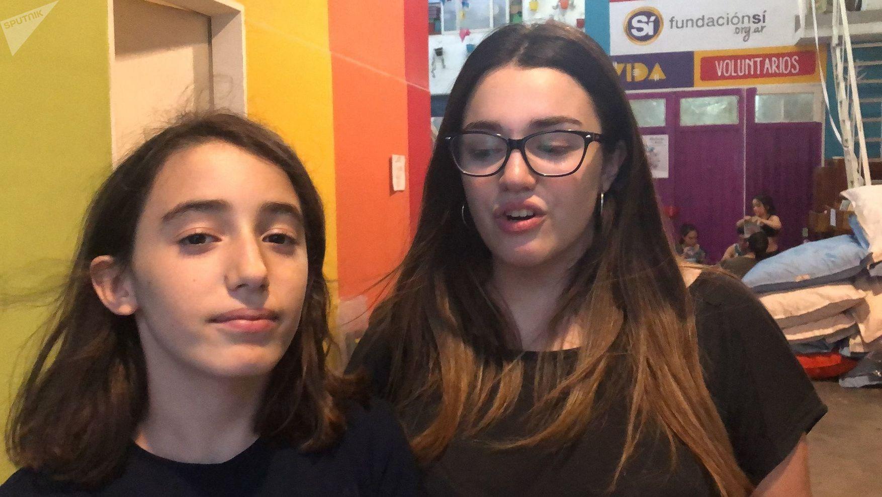 Tiara y Sofía son hermanas y se acercaron a participar por primera vez gracias a su tía