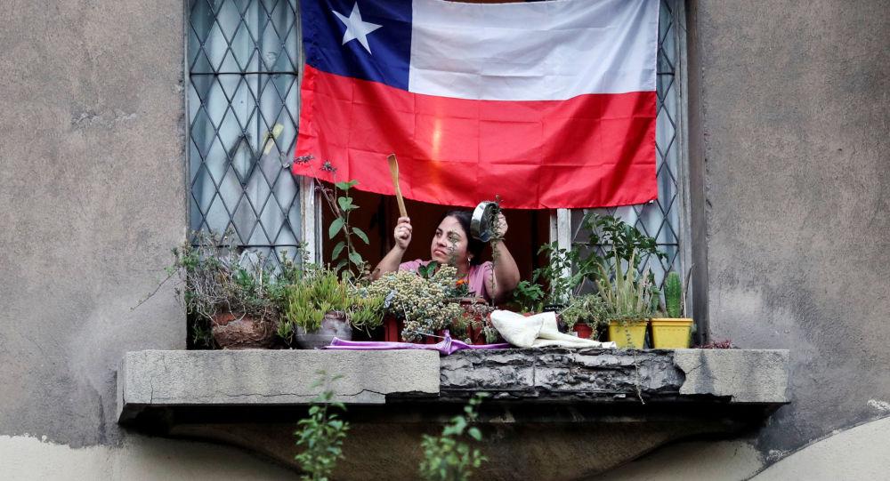 Un cacerolazo en Chile