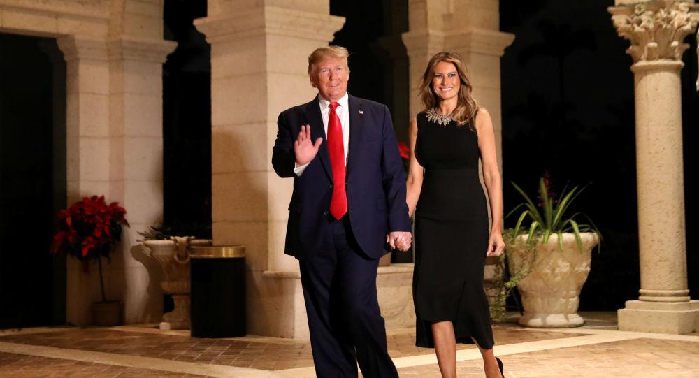 Presidente de EEUU, Donald Trump, con su esposa Melania