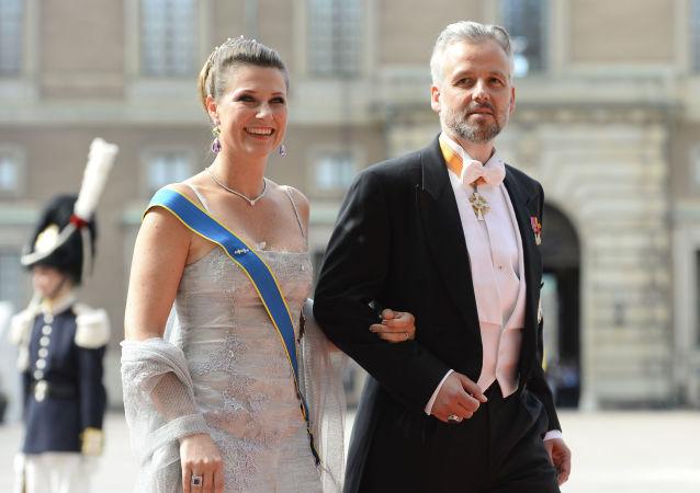 Ari Behn junto a la princesa Marta Luisa