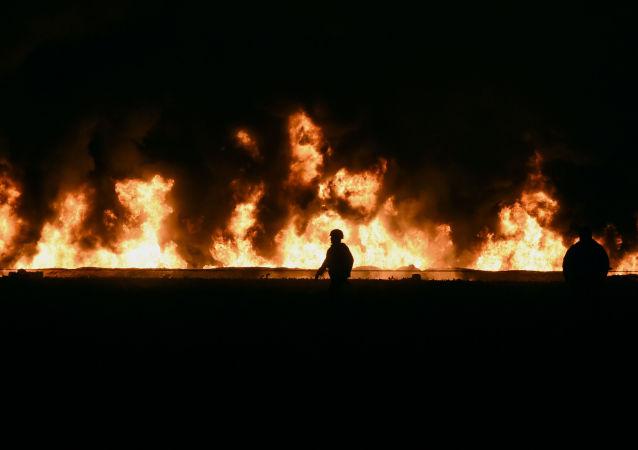 Explosión de un ducto de Tuxpan-Tula de Petróleos Mexicanos (Pemex) en Tlahuelilpan (México), el 18 de enero de 2019