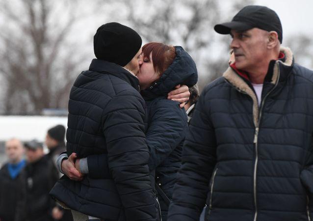 Las familias se runen tras el canje de prisioneros en Donbás