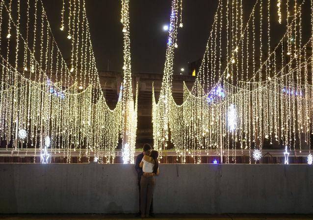 Iluminación navideña en Caracas