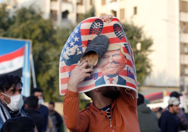 Protestas contra la política de EEUU en el Medio Oriente en Bagdad (archivo)