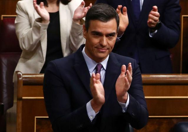 Pedro Sánchez, el presidente del Gobierno español en funciones