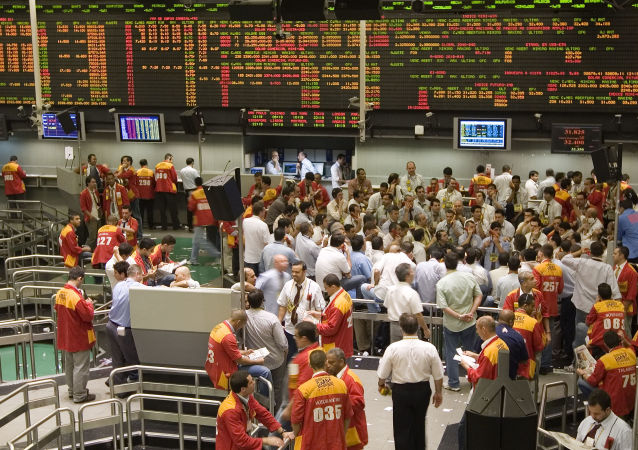 La bolsa de valores de Sao Paulo (Bovespa)