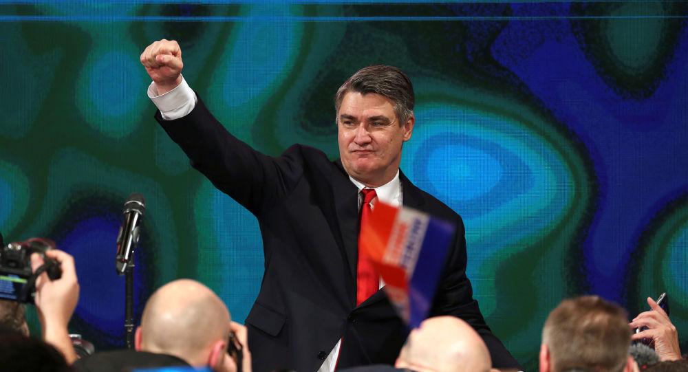 Zoran Milanovic, el presidente electo de Croacia