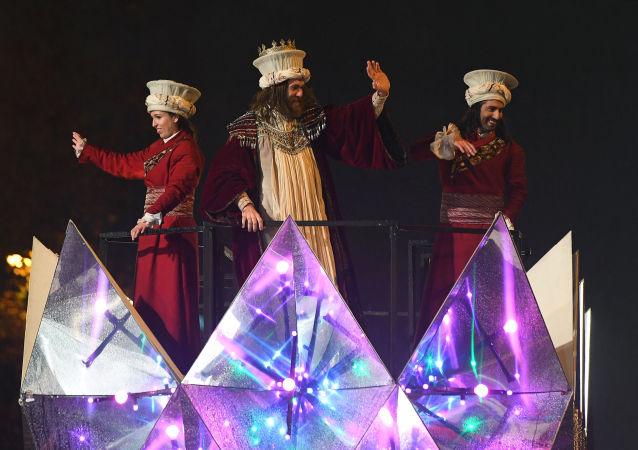 Una cabalgata de los Reyes Magos en Madrid