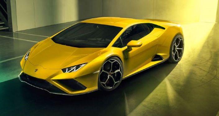 Vista completa del modelo Huracán EVO RWD de Lamborghini