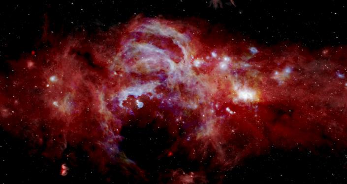 Imagen infrarroja del centro de la Vía Láctea