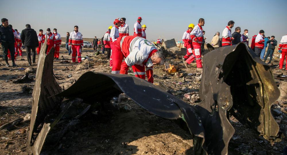Lugar del siniestro del avión ucraniano cerca del aeropuerto de Teherán