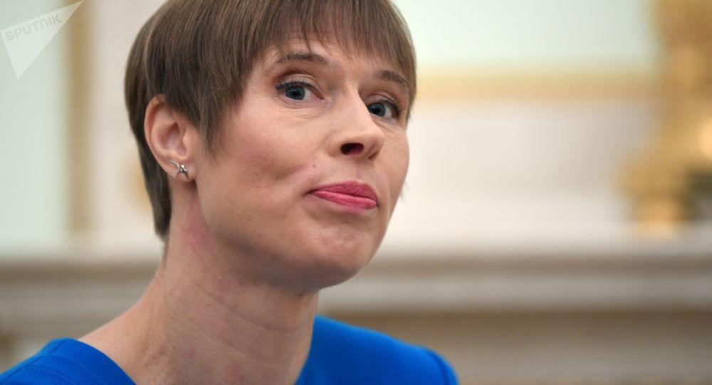 Kersti Kaljulaid, presidenta de Estonia (archivo)