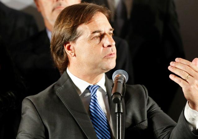 El presidente electo de Uruguay Luis Lacalle Pou
