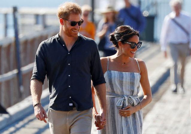 El príncipe Enrique y, su esposa, Meghan Markle