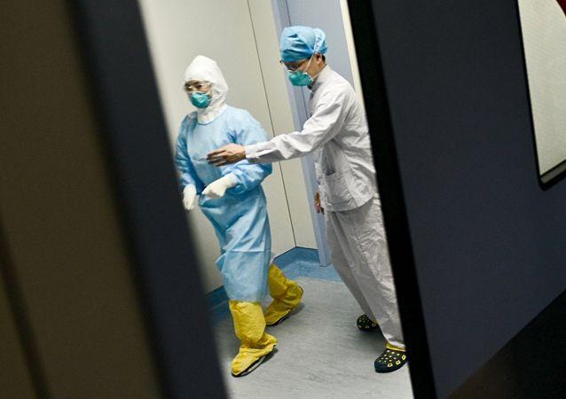 Un hospital en China, foto de archivo