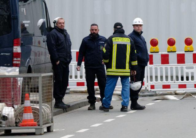 Una carretera cerrada en Dortmund
