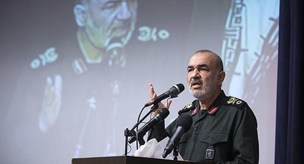 El general Hossein Salami, comandante de la Guardia Revolucionaria iraní (archivo)