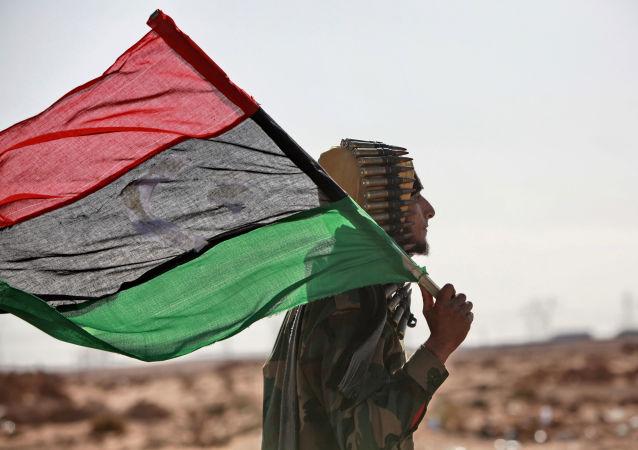 La bandera de Libia