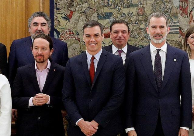 Estreno del Gobierno de coalición de Pedro Sánchez en España, el 13 de enero de 2020
