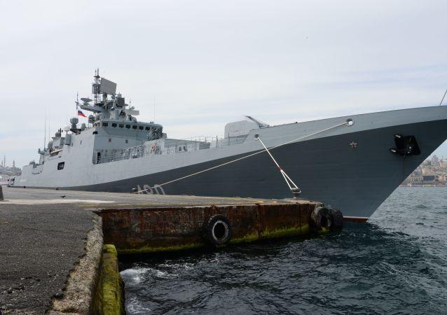 La fragata rusa Almirante Essen