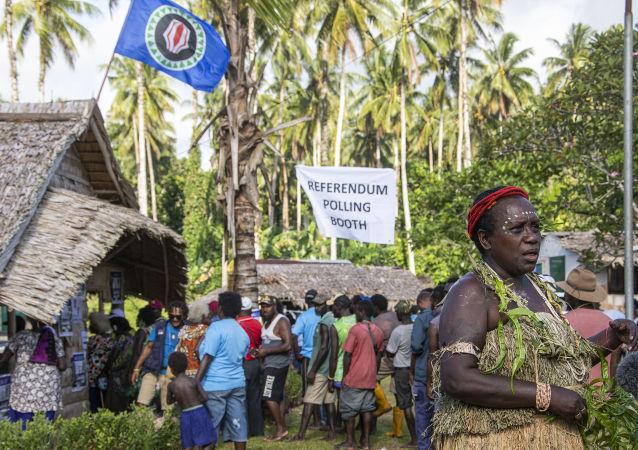 Votación del referéndum para la independencia de Bougainville