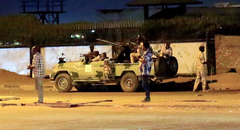 Militares de Sudán en Jartum