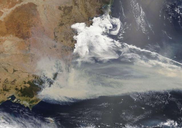 Incendios forestales en Australia desde el espacio