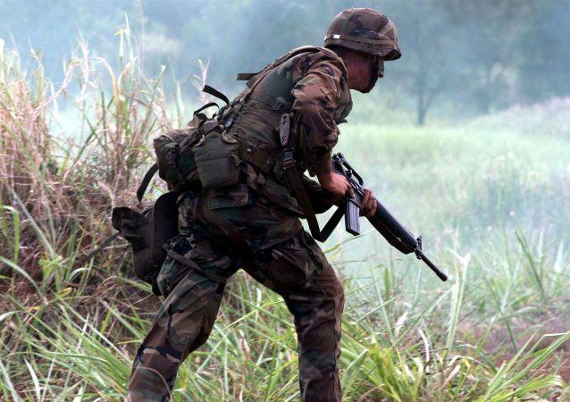 Un soldado del Ejército. Imagen referencial