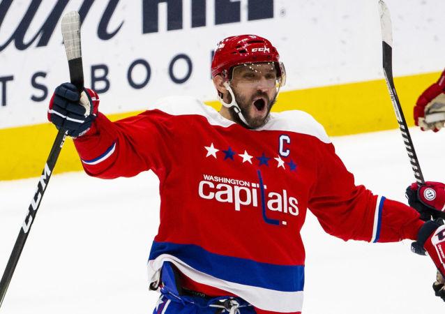 Alex Ovechkin, jugador de hockey ruso, capitán de Washington Capitals