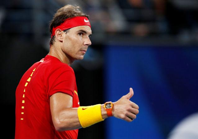 El tenista español Rafael Nadal