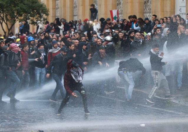 Las protestas en Beirut, Líbano