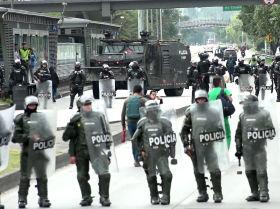 La violencia marca la primera protesta en Colombia tras una pausa
