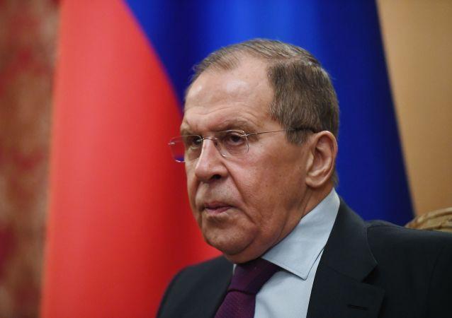 Serguéi Lavrov, ministro de Exteriores interino de Rusia