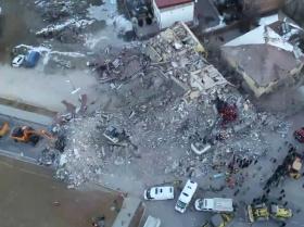 Destrucción total y operaciones de rescate tras el terremoto en Turquía