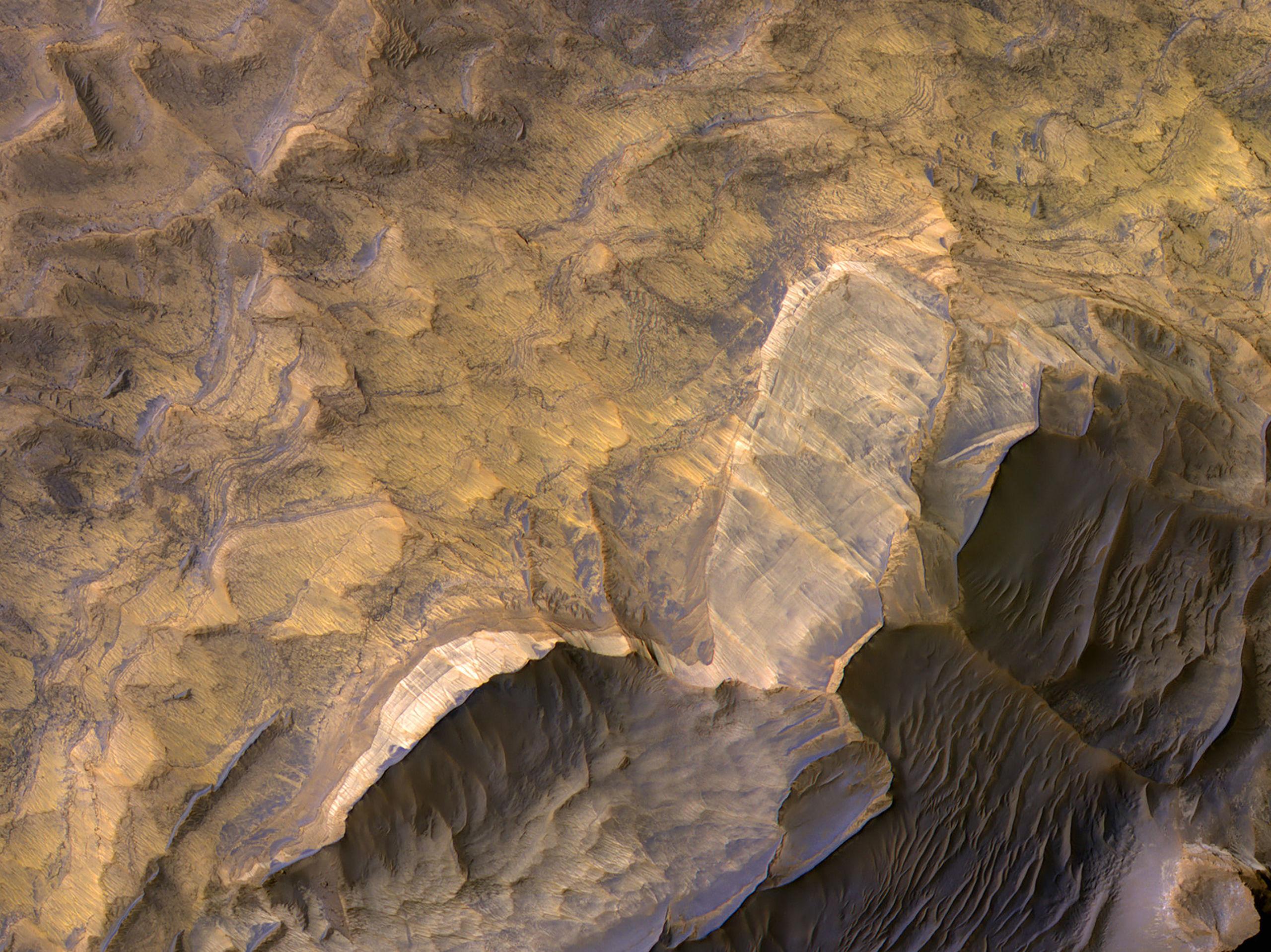 Arenisca en Candor Chasma Oriental